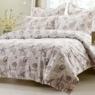 6pc Seashell Beige Bedding Set-Includes Comforter and Duvet Cover Set King/Cal King
