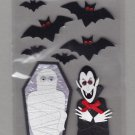 Sandylion Essentials Scrapbooking Stickers MUMMY & DRACULA Coffin Bats Halloween 3D - EL02
