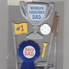 Sandylion Essentials Scrapbooking Stickers DAD World's Greatest Best Dad Golf Trophy 3D - EL03