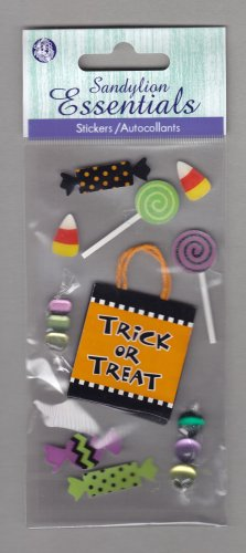 Sandylion Essentials Scrapbooking Stickers HALLOWEEN CANDY Treat or Treat  3D - EL04