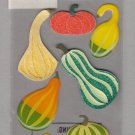 Sandylion Essentials Scrapbooking Stickers GOURDS pumpkin autumn harvest fall thanksgiving 3D - EL13