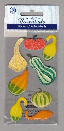 Sandylion Essentials Scrapbooking Stickers GOURDS pumpkin autumn harvest fall thanksgiving 3D - EL13