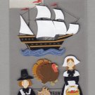 Sandylion Essentials Scrapbooking Stickers MAYFLOWER pumpkin turkey harvest thanksgiving 3D - EL14