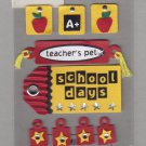 Sandylion Essentials Scrapbooking Stickers BACK TO SCHOOL teacher's pet apple learn study 3D - EL19