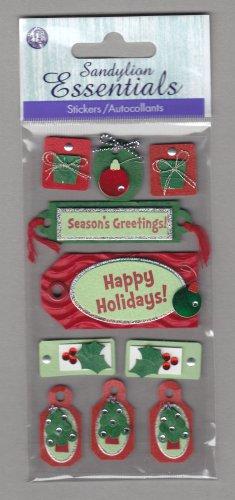 Sandylion Essentials Scrapbooking Stickers CHRISTMAS happy holidays present tree xmas 3D - EL20