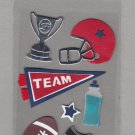Sandylion Essentials Scrapbooking Stickers FOOTBALL team winner sports 3D - EL23