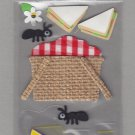 Sandylion Essentials Scrapbooking Stickers PICNIC and sandwich basket lemonade 3D - EL24