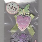 Sandylion Essentials Scrapbooking Stickers LITTLE FAIRY love fairy tale garden butterfly 3D - EL26