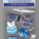 Sandylion Essentials Scrapbooking Stickers CHEERLEADING Go Team 3D - ES02