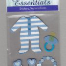 Sandylion Essentials Scrapbooking Stickers BABY BOY pacifier newborn infant 3D - ES09