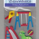 Sandylion Essentials Scrapbooking Stickers PARK swings slide ball exercise playground 3D - ES13