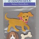 Sandylion Essentials Scrapbooking Stickers DOG bone best friend guard 3D - ES16