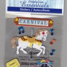 Sandylion Essentials Scrapbooking Stickers CARNIVAL carosel roller coaster fair 3D - ES27