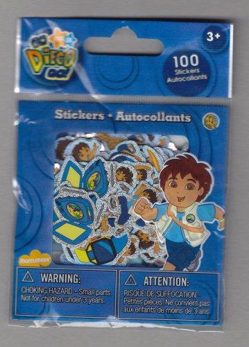 Sandylion Nick Jr GO DIEGO GO - 100 Die Cut Stickers - DC05