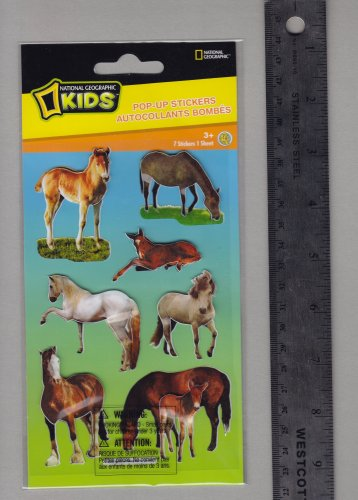 National Geographic KIDS stickers FARM horses