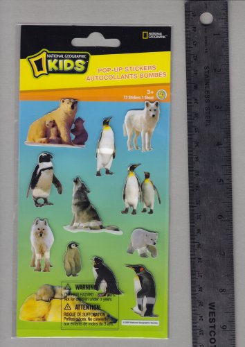 National Geographic KIDS stickers POLAR penguin polar bear