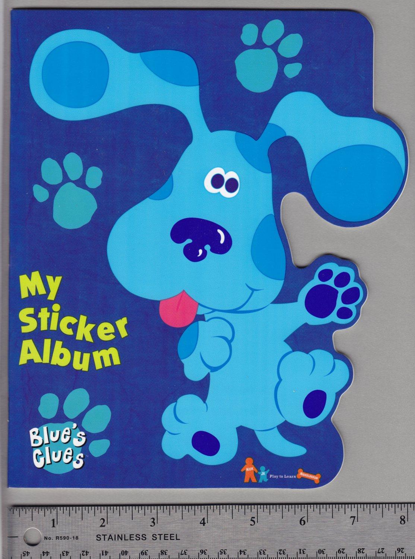 sandylion sticker book album blue u0027s clues nickelodeon nick jr