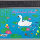 Sandylion Sticker Book Album SPRING SWAN pond lily pad fish butterfly