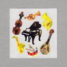 Sandylion Musical Instruments Stickers Rare Vintage PM55
