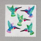 Sandylion Humming Birds Stickers Rare Vintage PM185
