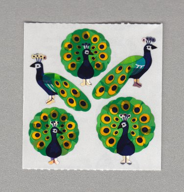 Sandylion Peacock Stickers Rare Vintage PM223