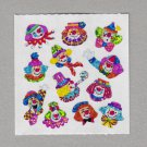 Sandylion Clowns Micro Stickers Rare Vintage PM353
