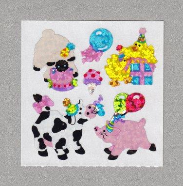 Sandylion Party Farm Animals Stickers Rare Vintage PM379
