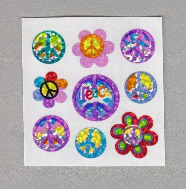 Sandylion Peace Symbols Stickers Rare Vintage PM400