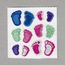 Sandylion Footprints Stickers Rare Vintage PM420