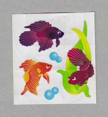 Sandylion Beta Fish Stickers Rare Vintage PM430