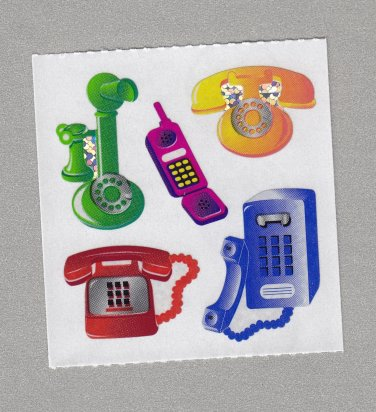 Sandylion Telephones Stickers Rare Vintage PM435