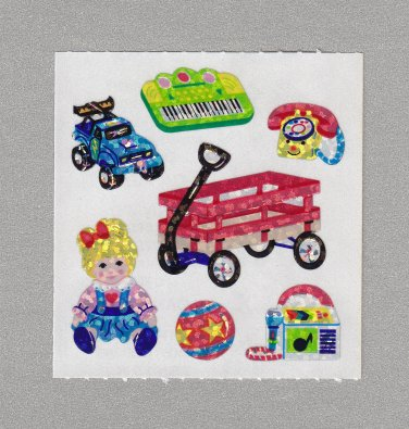 Sandylion Kids LIttle Red Wagon with Toys Stickers Rare Vintage PM449