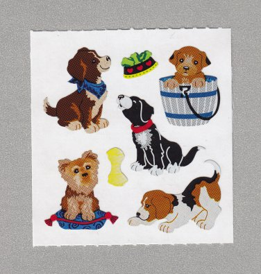 Sandylion Dogs Puppies Stickers Rare Vintage PM454