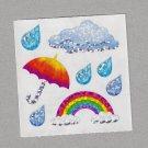 Sandylion Rainbow Raindrops Stickers Rare Vintage PM456