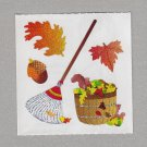 Sandylion Fall Clean Up Leaves Stickers Rake Rare Vintage PM471