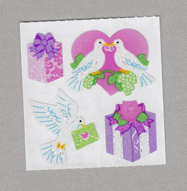 Sandylion Wedding Doves Stickers Rare Vintage PM475