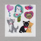 Sandylion Kitten Love Stickers Rare Vintage PM511