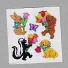 Sandylion Animals with Tulips Stickers Rare Vintage PM512