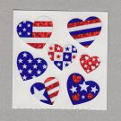 Sandylion America Flag Hearts Red White Blue Stickers Rare Vintage PM538
