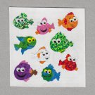 Sandylion Playful Fish Stickers Rare Vintage PM597