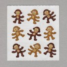 Sandylion Playful Monkeys Stickers Rare Vintage PM612