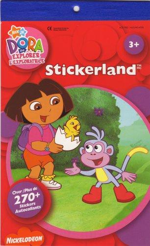 Nick Jr Dora The Explorer - Nickelodeon - 270+ Stickers -Stickerland Sticker Pad