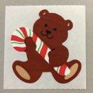 Sandylion Teddy Bear with Candy Cane Christmas Stickers Retro Rare Vintage XKK1a