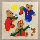 Sandylion Christmas Teddy Bears Candy Cane Presents Stockings Stickers Retro Rare Vintage XKK230