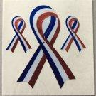 Sandylion Ribbon God Bless American USA Patriotic Stickers Rare Vintage MY353