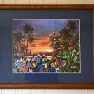 Sunset in the Caribbean Art Print
