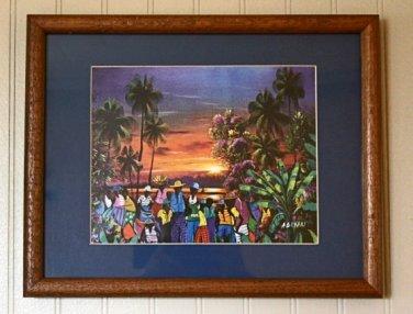 Sunset in the Caribbean Art Print