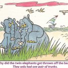 Vintage Postcard 1993 Humorous Elephants on the Beach