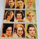 1932 Screen Stars Hollywood stamps lithographed lot Spencer Tracy