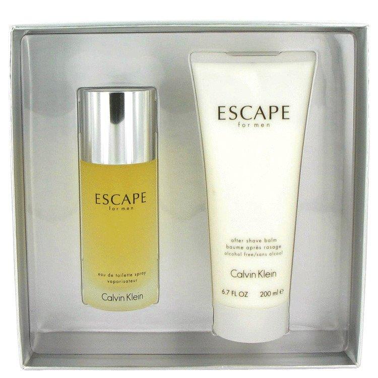 ESCAPE by Calvin Klein, Gift Set -- 3.4 oz Eau De Toilette Spray + 6.7 oz After Shave Balm